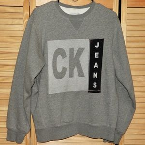 Calvin Klein Jeans Men's Monogram Sweater Size Sm